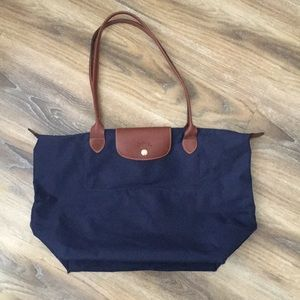 Longchamp Large Navy Le Pliage Bag